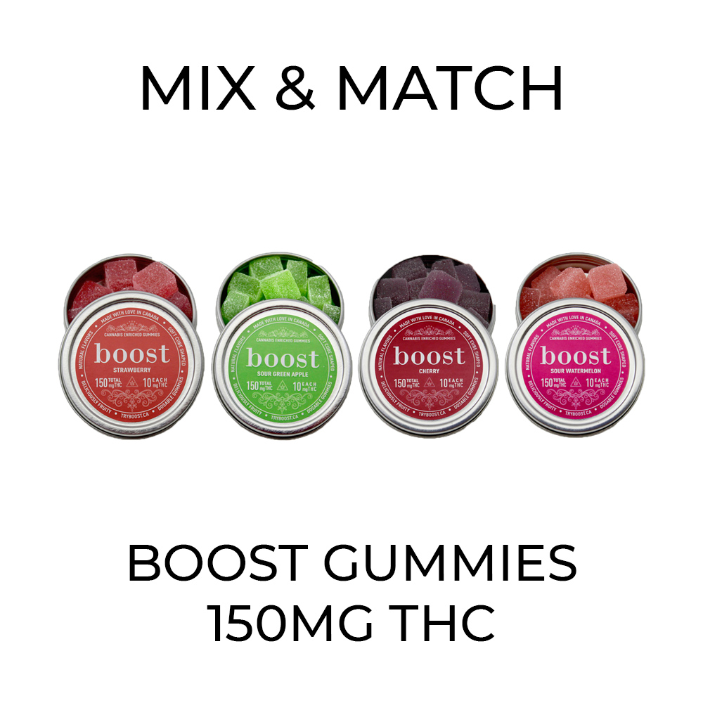5 Pack Boost Gummies (150mg) - Mix and Match