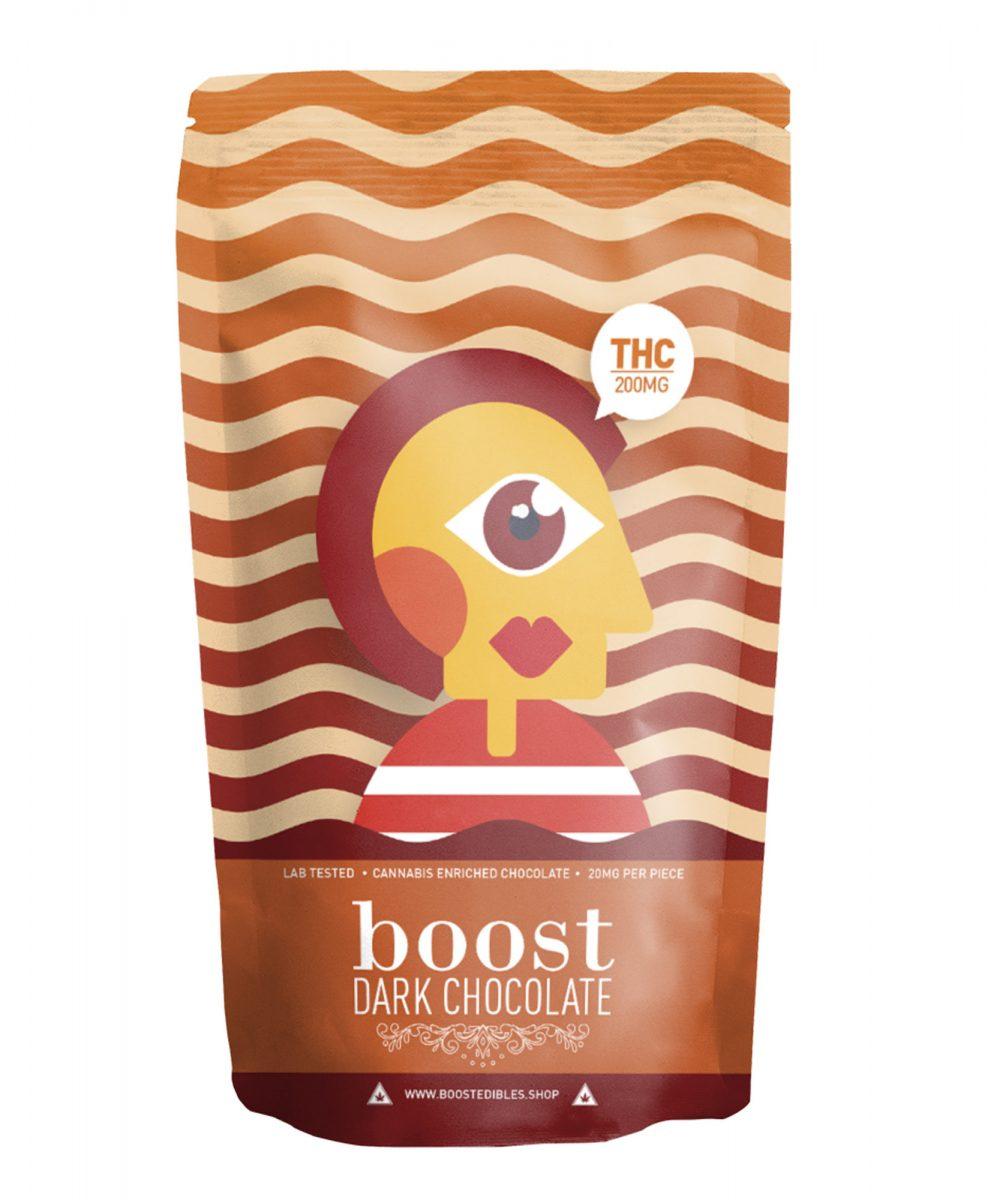 Boost Dark Chocolate Pack - THC 200mg