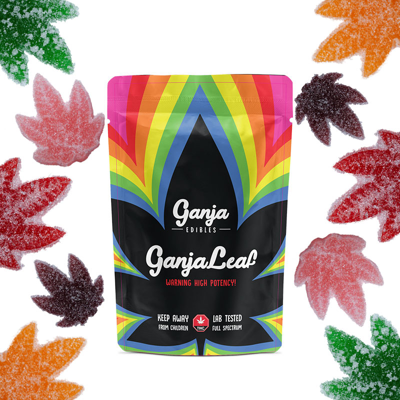 Ganja Leaf Sour Gummies
