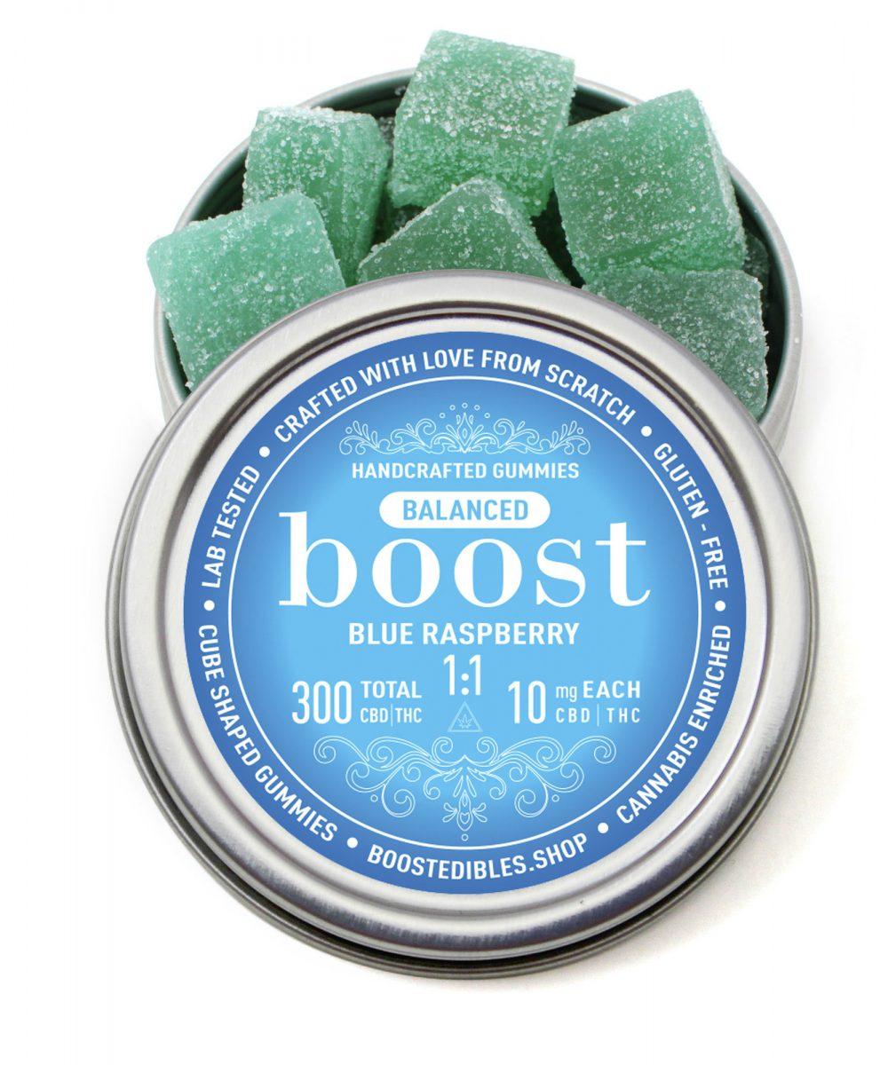 Boost 1:1 (CBD:THC) Blue Raspberry Gummies