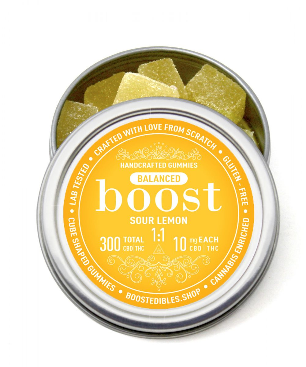 Boost 1:1 (CBD:THC) Sour Lemon Gummies